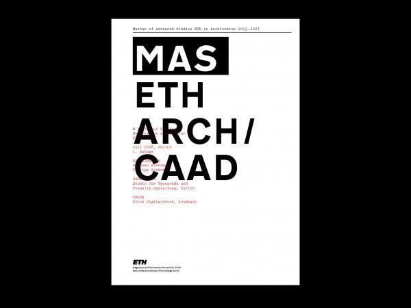 MAS ETH ARCH/CAAD