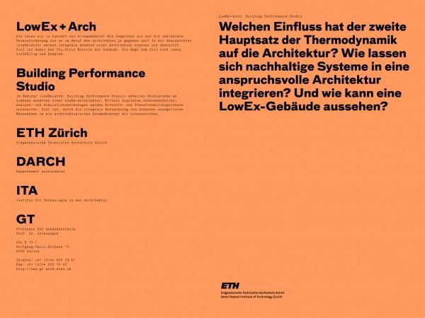 LowEx + Arch